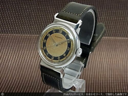 Movado Arabic Numeral Index Two Tone Dial Cal.470 Manual Vintage Watch 1940and039s