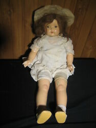 Antique 1920's Mae Starr Cylinder Phonograph Talking/singing Doll