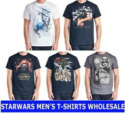 Starwars Wholesale Mens Clothing Top Graphic T-shirt Tee Assorted Lot Mixed Size