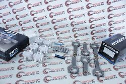 Cp-carrillo 87mm 9.51 Cr Pistons And Pro-h Rods Wmc And Acl Bearings For Bmw S54b32