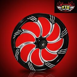 Ftd Customs Fat Front Wheel And Tire Kit Slasher 180mm Fat Front Tire 00-13