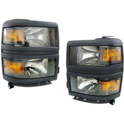 Headlight Lamp Left-and-right For Chevy Lh And Rh Chevrolet Gm2502395c, Gm2503395c