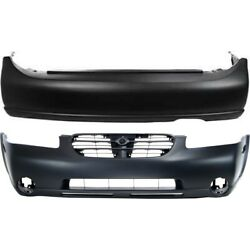 Pair Bumper Covers Set Of 2 Front And Rear For Nissan Maxima Ni1000174, Ni1100220