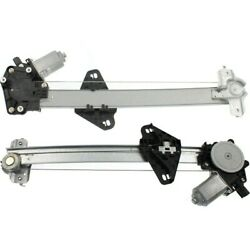 Window Regulators Set Of 2 Rear Left-and-right Lh And Rh Ho1551122, Ho1550122 Pair