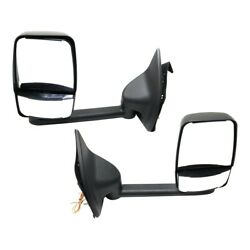 Mirror For 99-2010 Ford F-350 Super Duty Left And Right Set Of 2 Long Arm