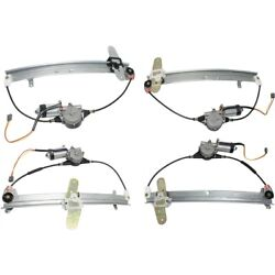 Set Of 4 Window Regulators Front And Rear Left-and-right Lh Rh For Town Car 98-11