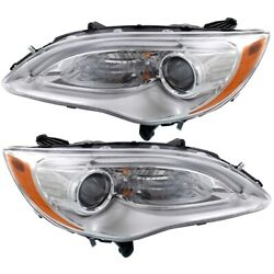 Headlight Lamp Left-and-right Lh And Rh For Chrysler 200 5182590ac, 5182591ac