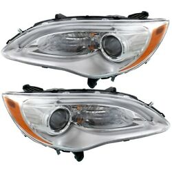 Headlight Lamp Left-and-right Lh And Rh For Chrysler 200 5182590ac 5182591ac