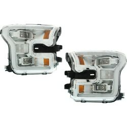 Fo2503344c, Fo2502344c Headlight Lamp Left-and-right For F150 Truck Lh And Rh Ford