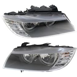 Headlight For 2009-2012 Bmw 328i Xdrive Driver And Passenger Side Pair Capa