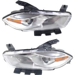 Headlight Lamp Left-and-right Ch2518143c Ch2519143c Lh And Rh For Dodge Dart