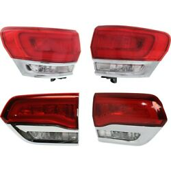 Tail Lights Lamps Set Of 4 Left-and-right Inside Lh And Rh For Jeep Grand Cherokee
