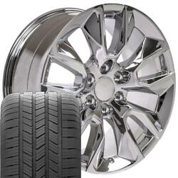 20x9 2337622 Wheels And Gy Tires Set Fits Chevy And Gmc Cv32 20 Chrome