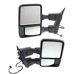 Mirror For 2008-2010 Ford F-350 Super Duty Left And Right Set Of 2 Memory