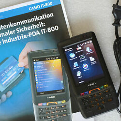 Pda With Windows Mobile Casio It-800 It-800rgc-65d Scanner + Gsm Telephone Gps