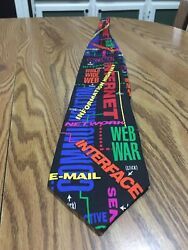 Everything Internet - 100 Silk Tie By Rm Style
