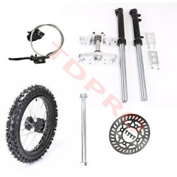 Triple Tree Clamps Front Forks 14 Front Wheels Axle Brake Assembly Crf50 Apollo