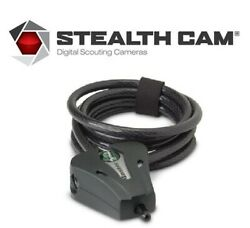 Stealth Cam 6-foot Master Python Security Lock Cable For Game Cameras, Black