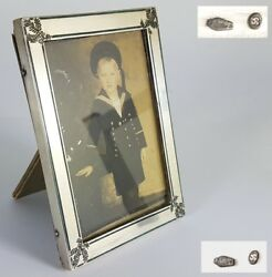Rare Images Frame/photo Frame With Photo Silver Enamel About 1900- 1920 Al1088
