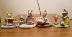 4 Avon Forest Friends Mice - Sleigh Ride - Storytime - All Tucked - Sunday Best