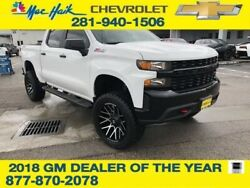 2019 Chevrolet Silverado 1500 Custom Trail Boss 2019 Chevrolet Silverado 1500 Custom Trail Boss 65 Miles Summit White 4WD Crew C