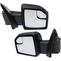 Mirror For 2015-2018 Ford F-150 Left And Right Set Of 2 Textured Black