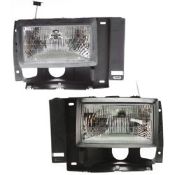 Fo2503107 Fo2502107 Headlight Lamp Left-and-right For Bronco Lh And Rh Ranger Ii