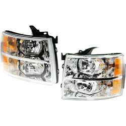 Headlight Lamp Left-and-right For Chevy Gm2503280 Gm2502280 22853028 22853027