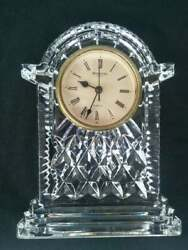 Vintage Waterford Ireland Table Clock Clear Color Crystal Glass Antiquities
