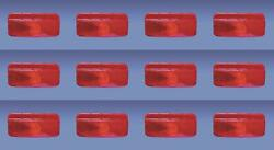 Fasteners Unlimited 003-81 Tail Light Assembly Red Lens Surface Mount 12 Pack