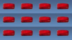 Fasteners Unlimited 003-81b Tail Light Assembly Red Lens Surface Mount 12 Pack