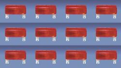 Fasteners Unlimited 003-81l Tail Light Assembly Red Lens Surface Mount 12 Pack