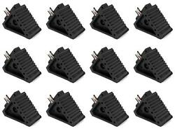 Performance Tool W41001 Wheel Chock Black Solid Rubber Single 12 Pack