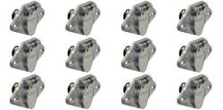 Pollak 11-607ep Trailer Wiring Connector 6 Way Round Exposed Terminals 12 Pack