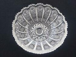 Bohemian Queen Lace Pattern Hand Cut 24 Lead Glass Crystal Bowl Round Shape