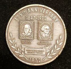 125th Anniversary Token Coin First United States Postage Stamps 1972