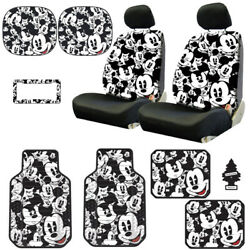 For Ford New Mickey Mouse 14pc Car Seat Covers Floor Mats And Accessories Set
