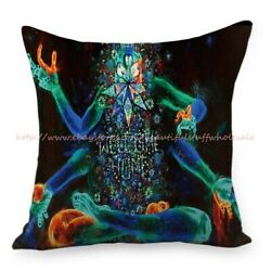 trippy psychedelic cushion cover decorative pillow covers for sofa