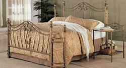 Coaster Home Furnishings Panel Bed Antique Brushed Gold