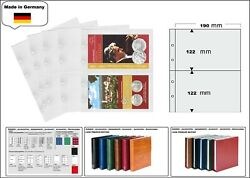 5 Look 1-7397 Coin Sheets Premium 2 Compartments 7 15/32x4 13/16in For Folder