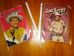 Gene Autry 7 1947 And Roy Rogers 10 Comic Books Very Htf Free Shipping
