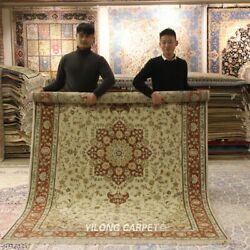 Clearance Yilong 6and039x9and039 Warm Wool Silk Carpet Oriental Handwoven Area Rug 1473