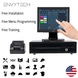 """12"""" Touchscreen Pos System For Restaurant Pos Cash Register Till Catering Pizza"""