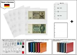 10 Look 1-7397-w Banknote Sleeves Premium 2 Compartments Ca.7 15/32x4 13/16in+