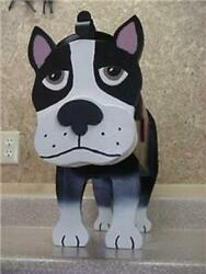 Boston Terrier Mailbox Custom Dog Mailboxes Postal Mail Box Animal Dogs Puppy