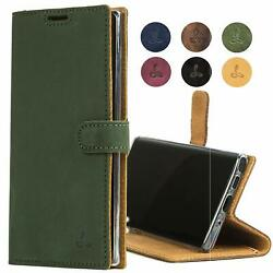 For Samsung Galaxy Note 10 Plus Case Genuine Leather Wallet Viewing Stand Card