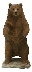 Ebros 4 Feet Tall Forest Wildlife Realistic Standing Brown Grizzly Bear Statue