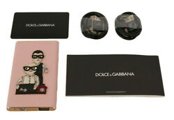 DOLCE & GABBANA Power Bank Charger USB Pink Leather #DGFAMILY 3000mAh RRP $440