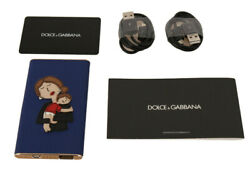 DOLCE & GABBANA Power Bank Charger USB Blue Leather #DGFAMILY 3000mAh RRP $440