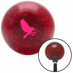 Pink Crow Red Metal Flake Shift Knob W/ M16x1.5 Insert Shifter Auto Manual Brody